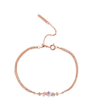 OLIVIA BURTON LONDON Rainbow Bee Chain Bracelet Rose GoldOBJAMB76 – Rainbow Bee Chain Bracelet Rose Gold - Front view